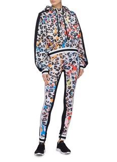 No Ka'Oi 'Leopaki Kalia' paint splatter leopard print leggings