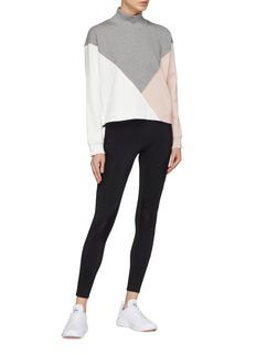 Vaara 'Kenna' colourblock oversized cropped high neck sweatshirt