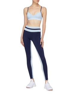 Vaara 'Flo Tuxedo' stripe seam performance leggings