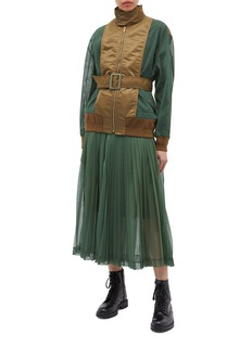 TOGA ARCHIVES Belted nylon panel mesh jacket