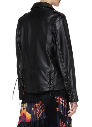 Back View - Click To Enlarge - TOGA ARCHIVES - Lace-up leather biker jacket