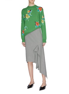 TOGA ARCHIVES Floral intarsia sweater