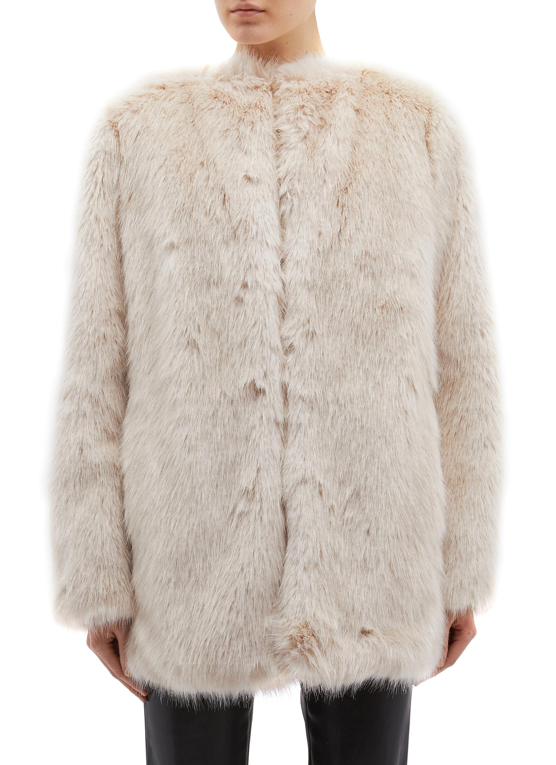 Faux fur oversized coat by Helmut Lang