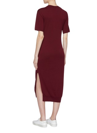 Back View - Click To Enlarge - MRZ - Sleeve tie knit dress