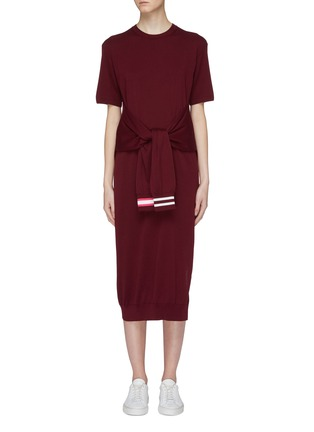 Main View - Click To Enlarge - MRZ - Sleeve tie knit dress