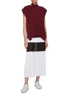 MRZ Tie cutout back knit top
