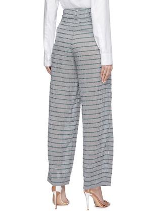 Back View - Click To Enlarge - DAWEI - Stripe wide leg pants