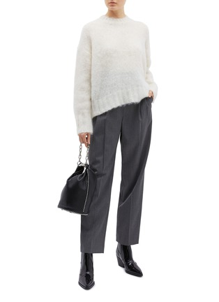 Figure View - Click To Enlarge - Helmut Lang - Brushed mohair blend sweater