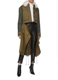 Monse Patchwork lambskin shearling coat