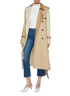 Monse Belted asymmetric patchwork trench coat
