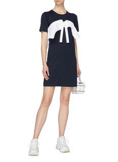 Xiao Li Ruffle drawstring panel T-shirt dress