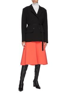Tome Virgin wool blend flared skirt