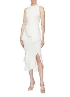 Roland Mouret 'Lucca' drape split hem skirt