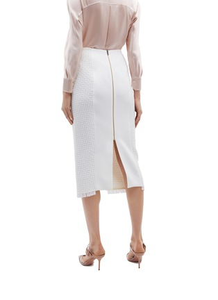 Back View - Click To Enlarge - Roland Mouret - 'Turnley' split front lattice skirt