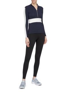 Vaara 'Valentine' stripe sleeve half-zip performance top