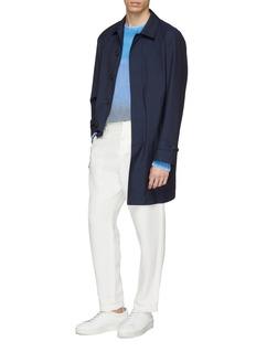 MAISON FLANEUR Colourblock cashmere sweater