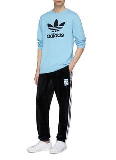 adidas x have a good time Logo jacquard sweater