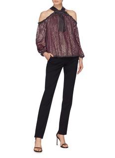 Needle & Thread 'Kaleidoscope' sequin stripe off-shoulder top