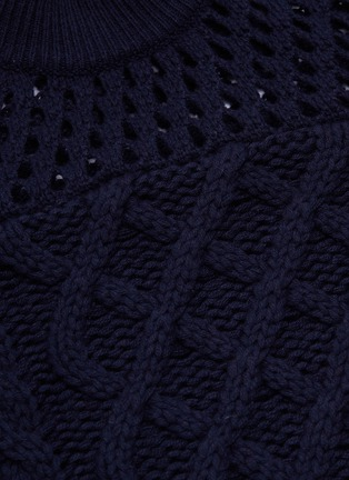 - SELF-PORTRAIT - Colourblock cotton-wool mix knit sweater