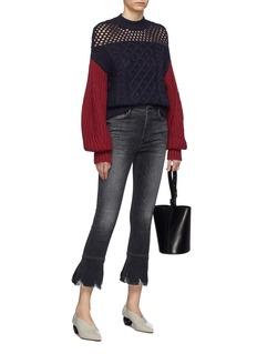 self-portrait Colourblock cotton-wool mix knit sweater