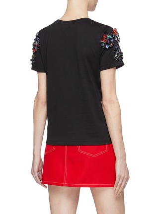 Back View - Click To Enlarge - MINKI - Abstract floral appliqué T-shirt