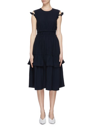 Main View - Click To Enlarge - MINKI - Ruffle strap tiered dress