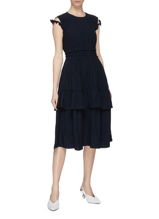 Figure View - Click To Enlarge - MINKI - Ruffle strap tiered dress