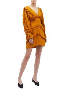 C/Meo Collective  'Thousand Times' ruffle trim dress