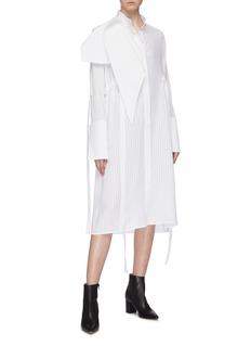 ELLERY 'Zeni' scarf panel sash drape oversized shirt dress