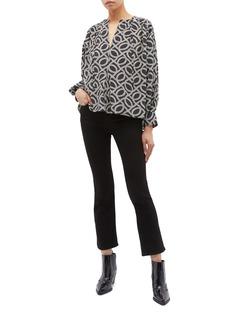 Isabel Marant 'Amba' graphic print half placket blouse