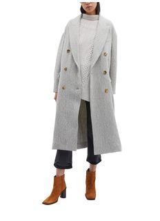 Isabel Marant 'Habra' double breasted alpaca-virgin wool coat