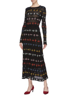 Sonia Rykiel Mimosa floral jacquard knit maxi skirt