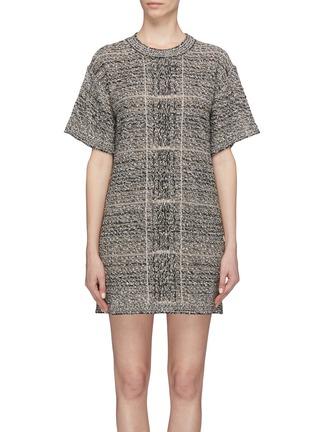 Main View - Click To Enlarge - Sonia Rykiel - Tweed T-shirt dress