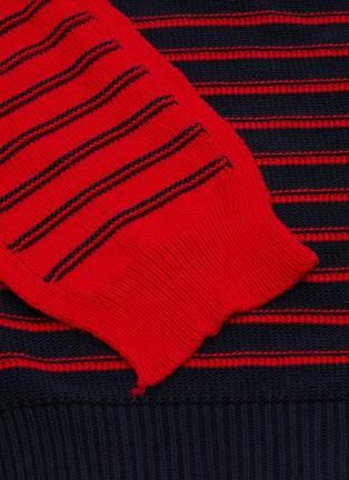 - SONIA RYKIEL - Tie stripe knit wrap