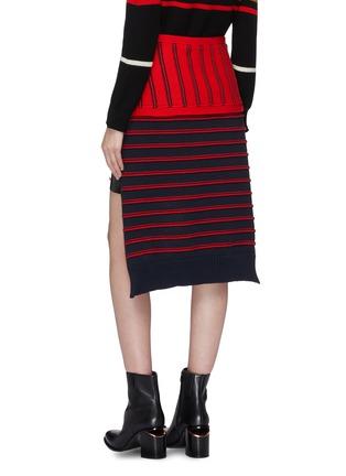 Back View - Click To Enlarge - SONIA RYKIEL - Tie stripe knit wrap