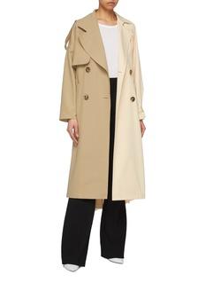 ENFÖLD Belted colourblock trench coat