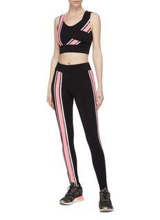 No Ka'Oi 'Kanawai Hele' contrast strappy racerback sports bra