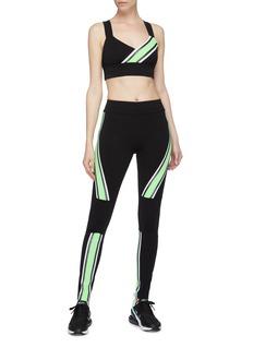 No Ka'Oi 'Kanawai Ola' contrast stripe cross back sports bra