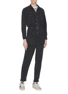 Isabel Marant Étoile 'Lashay' patch pocket snap button denim jumpsuit