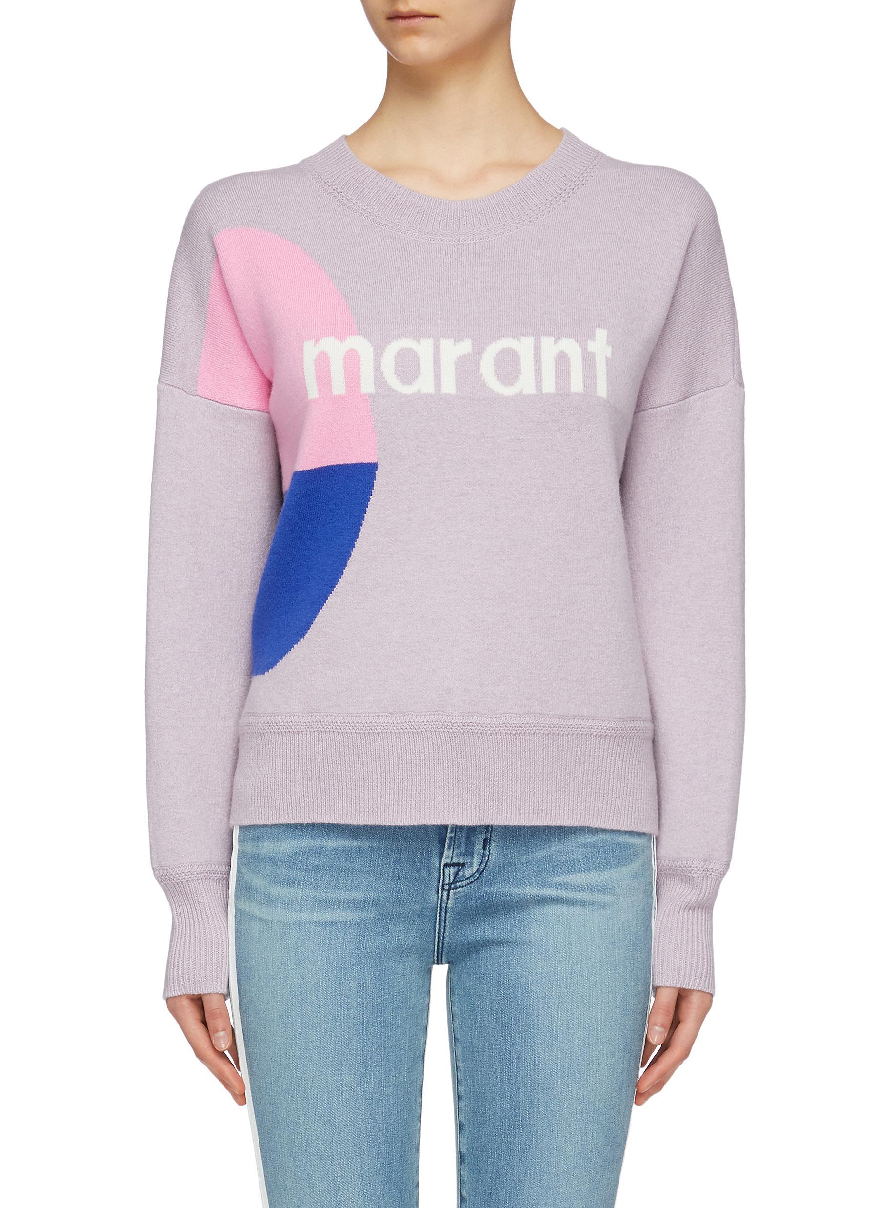 f6b11a062d2 Isabel Marant Étoile.  Korbin  logo print colourblock sweater
