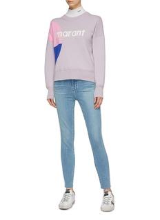Isabel Marant Étoile 'Korbin' logo print colourblock sweater