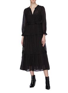 Isabel Marant Étoile 'Aboni' crochet ruffle trim tiered dress