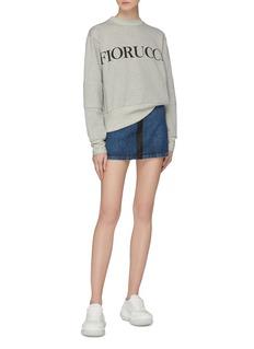 Fiorucci 'Lily' contrast pocket zip front denim skirt