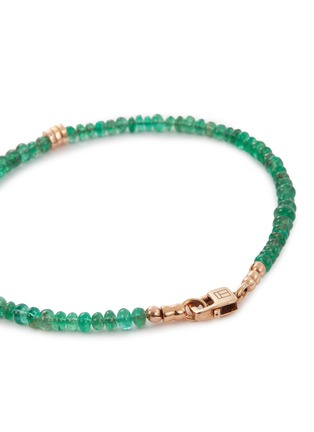 Detail View - Click To Enlarge - TATEOSSIAN - 'Bamboo' emerald bead bracelet