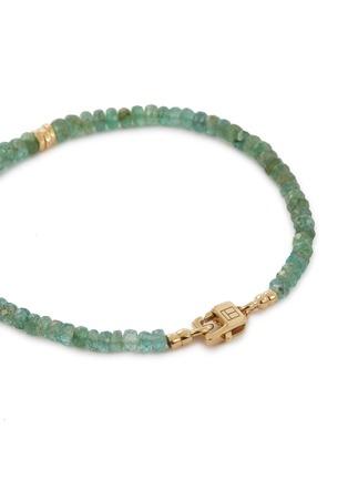 Detail View - Click To Enlarge - TATEOSSIAN - 'Bamboo' Zambian emerald bead bracelet