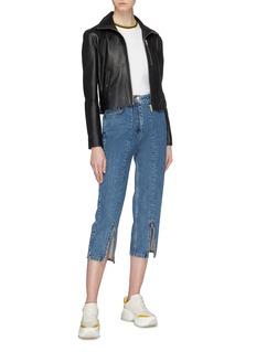 AALTO Zip cuff cropped straight leg jeans