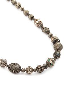 Aishwarya Diamond gemstone silver gold alloy necklace