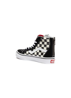 Vans x Disney 'Sk8-Hi Zip' Mickey Mouse appliqué checkerboard kids sneakers