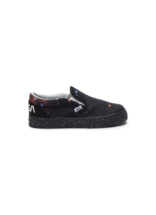 Main View - Click To Enlarge - VANS - x NASA 'Classic Slip-on' galaxy print toddler sneakers