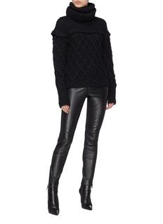 Philosophy di Lorenzo Serafini Wool lattice knit turtleneck sweater